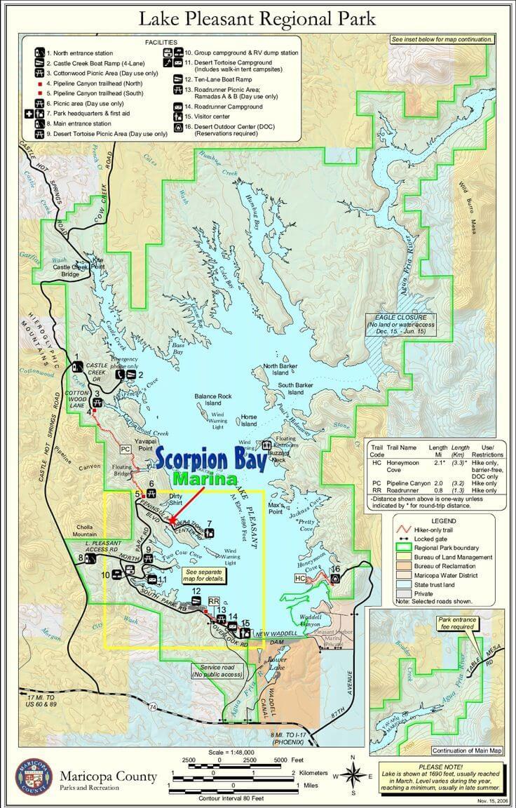 Lake-Pleasant-Fishing-Map-Guide