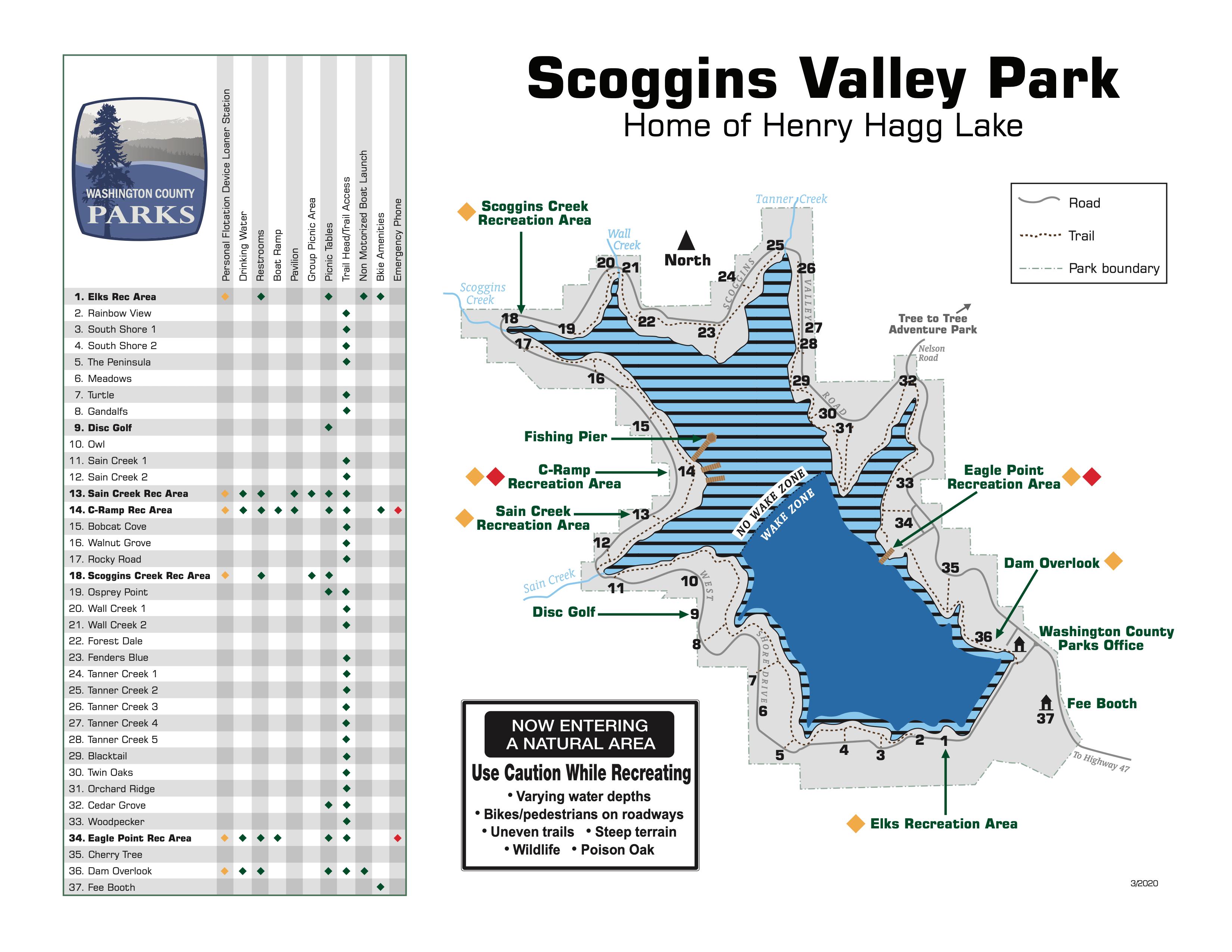 Henry-Hagg-Lake-OR-Fishing-Guide-Map