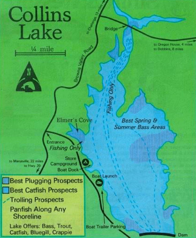 Collins-Lake-Fishing-Map-Califorinia