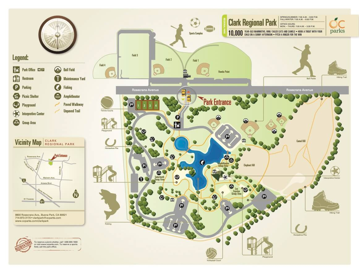Clark-Regional-Park-Lake-Map