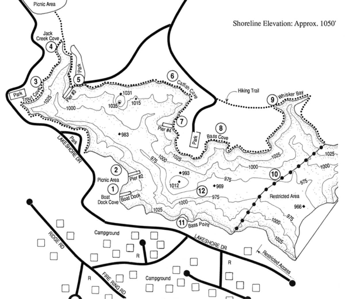 Dixon-Lake-Reservoir-Fishing-Map